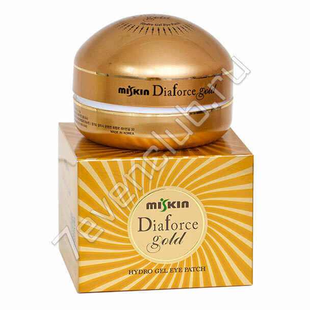 MISKIN Dia Force Gold Hydro Gel Eye Patch Гидрогелевые патчи с золотом, (60 шт)  ­